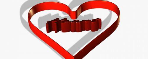 Chocolate Ribbon Heart