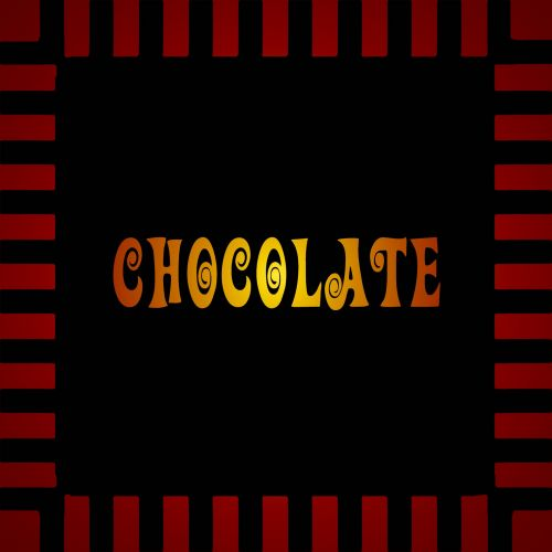 Chocolate Sign Glowing Gold