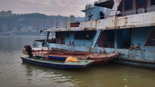 chongqing old boat riverside