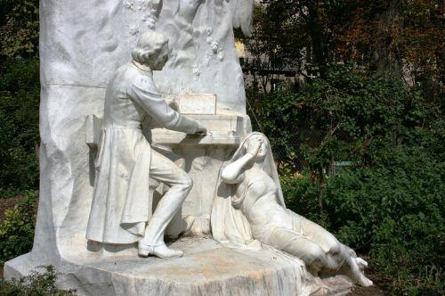 chopin piano monument