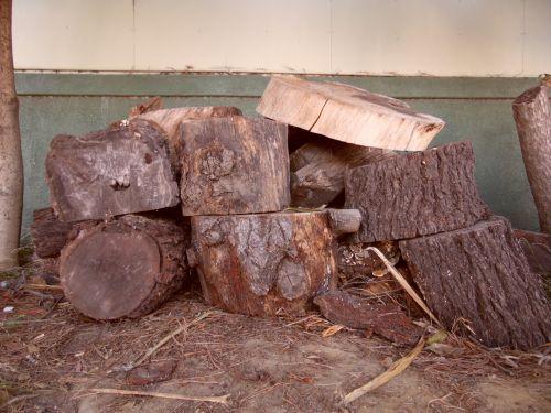 Chopped Up Wood Logs