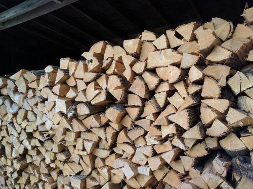 chopped wood wood firewood