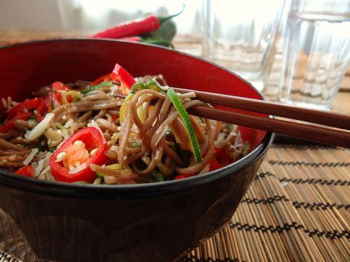 chopsticks soba noodles