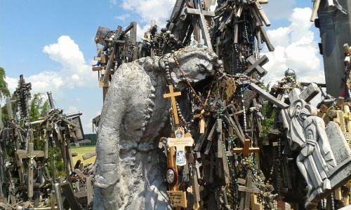 christ crosses the hill of crosses