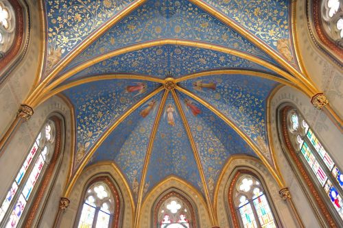 christ chapel hohenzollern ceiling painting