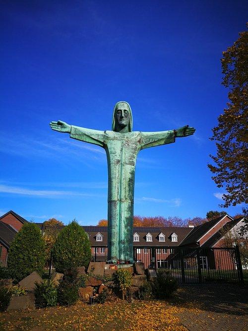 christ the redeemer statue  prayer  faith