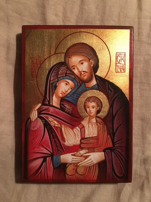 christian icon the holy family