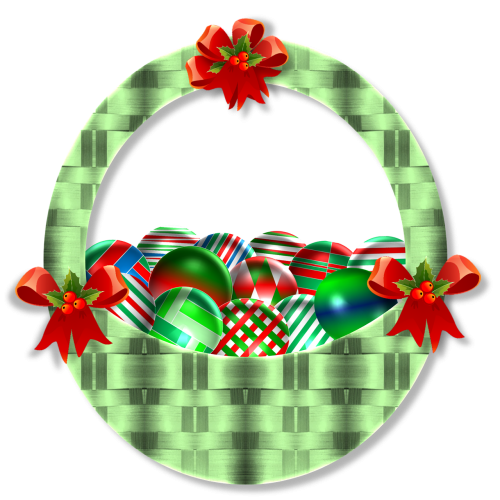 christmas basket ornaments