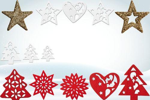 christmas icon set star