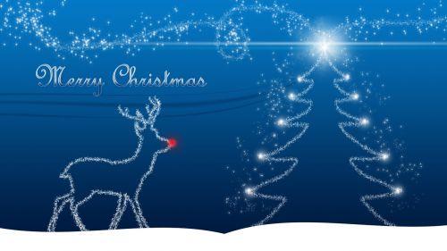christmas christmas card reindeer