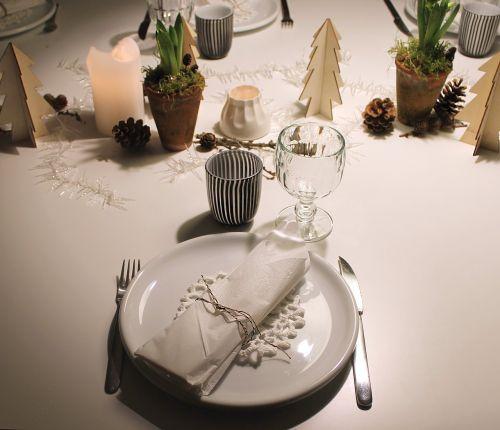 christmas table plate