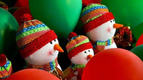 christmas snowman rag doll