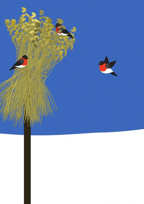 christmas sheaf bullfinch
