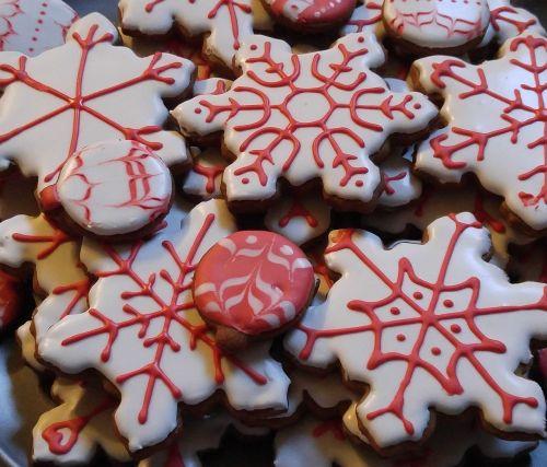 christmas snowflake cookie