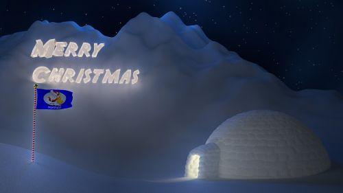 christmas snow north pole