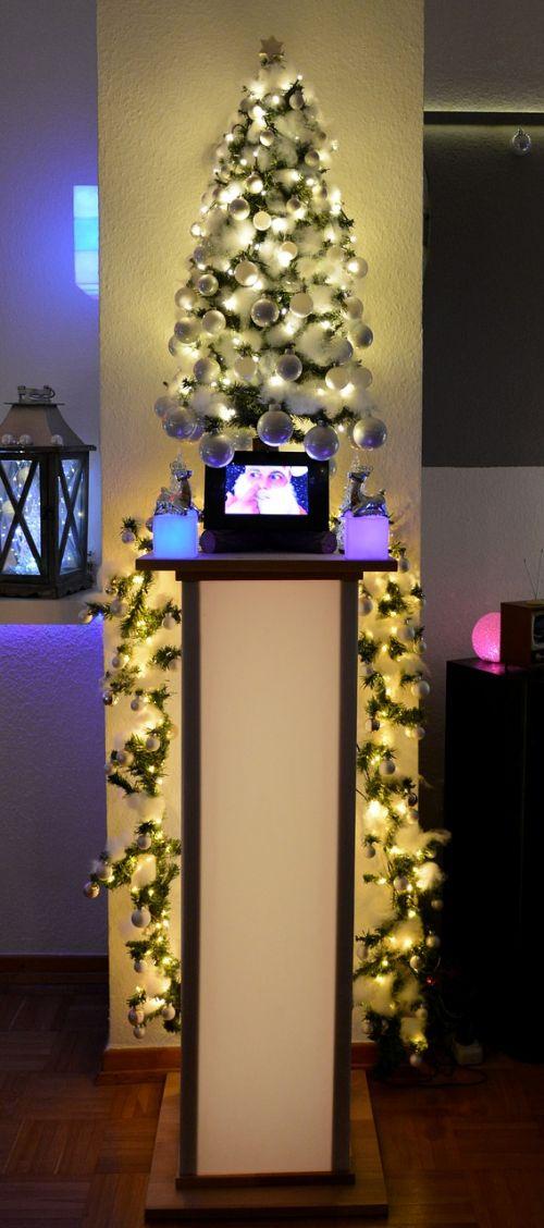 christmas christmas tree pillar