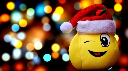 christmas smiley snow