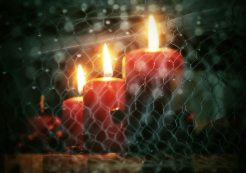 christmas candles candlestick