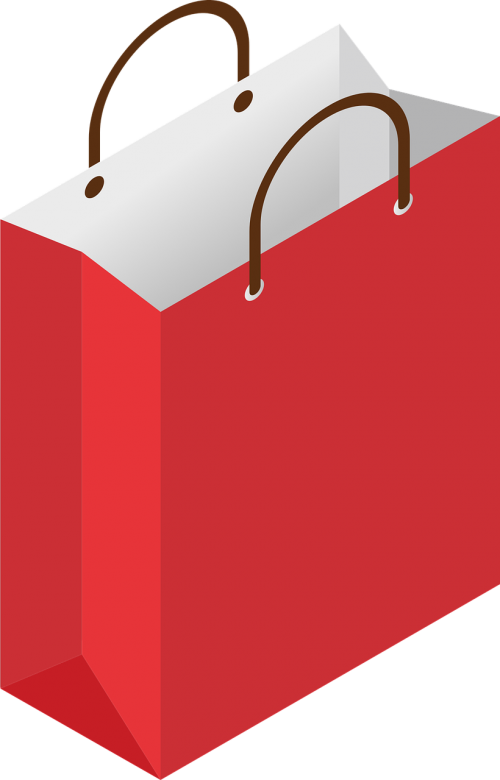 christmas shopping bag paper bags