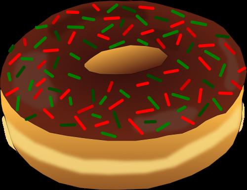 christmas dessert donut