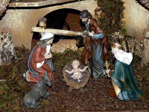christmas crib nativity scene