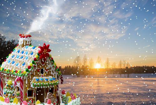 christmas gingerbread snow