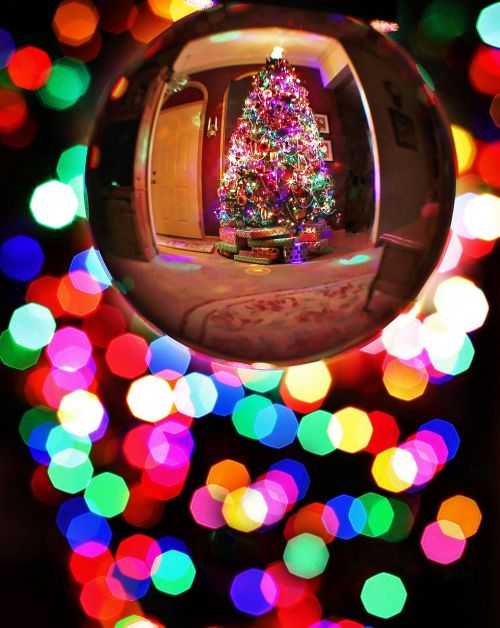 christmas crystal ball christmas tree