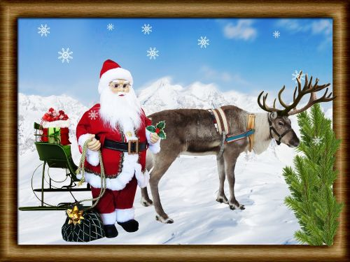 christmas scene sleigh