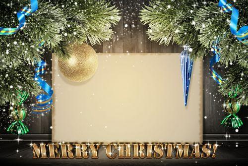 christmas new year postcard