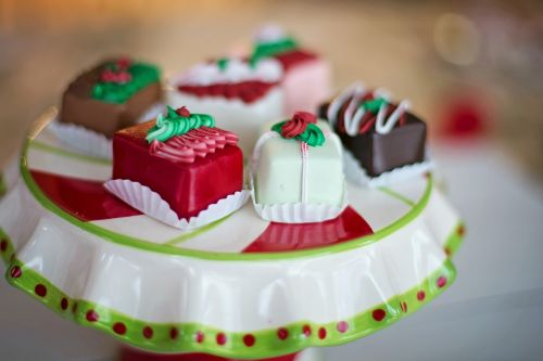 christmas petit fours candy