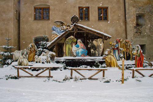 christmas nativity scene winter