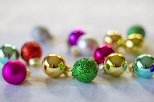 christmas ornaments backdrop