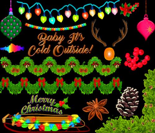 christmas  deer  garland