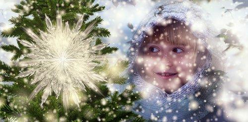 christmas  child  happy