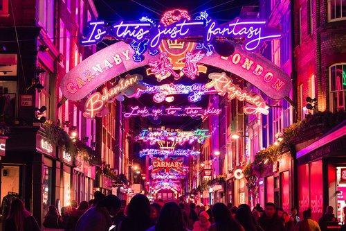 christmas  london  street