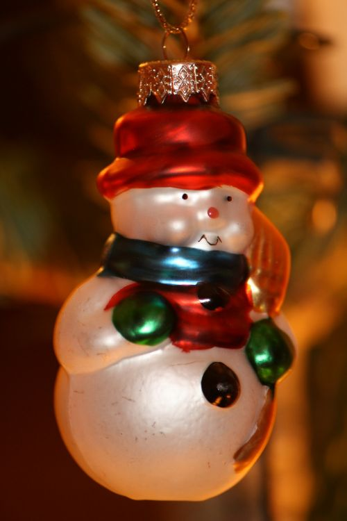 christmas christmas bauble snow man