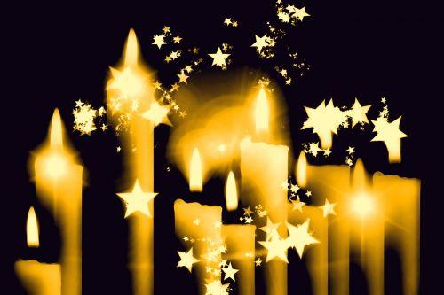 christmas candles star