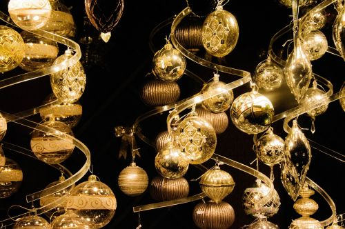 christmas balls sparkle