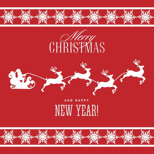 Christmas Background Santa Sleigh