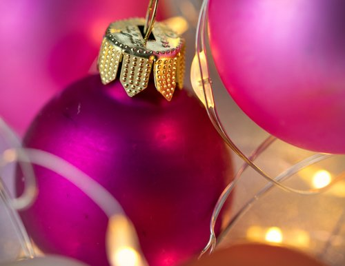 christmas bauble  close up  light