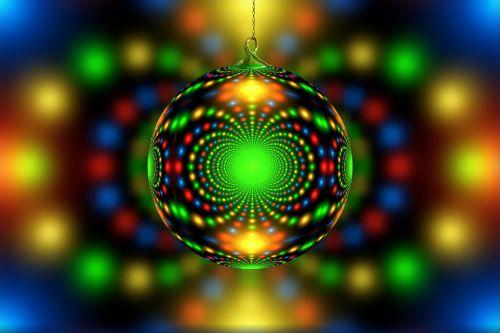 christmas christmas ornament fractal