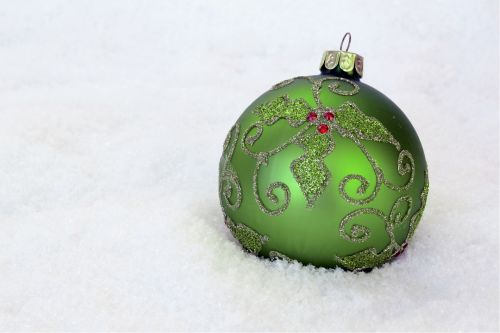Christmas Bauble Green