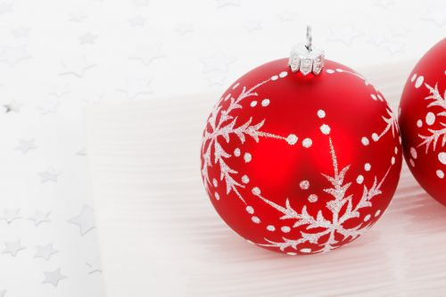 Christmas Bauble On Plate