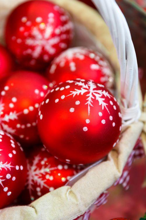 Christmas Baubles Basket