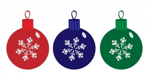 Christmas Baubles Clipart