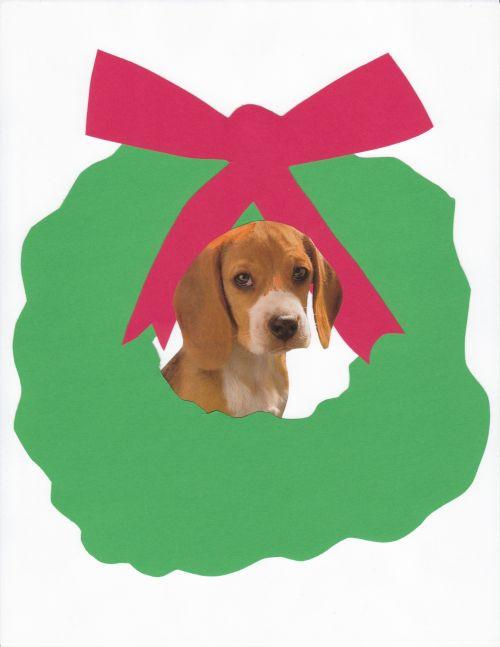 Christmas Beagle Dog