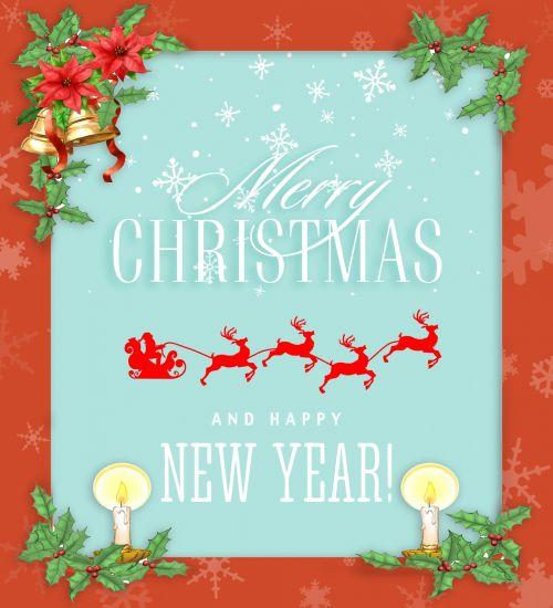 Christmas Card Santa Sleigh