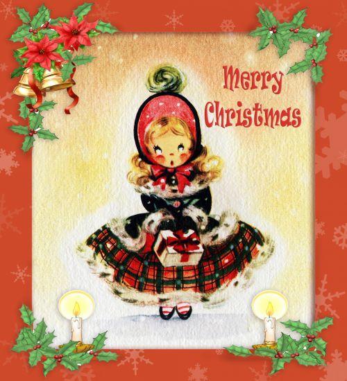 Christmas Card Vintage Design