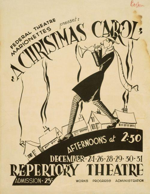 Christmas Carol Vintage Poster