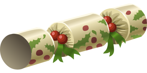 christmas cracker,xmas,christmas,bon-bon,cracker,festive,celebration,traditional,gift,free vector graphics